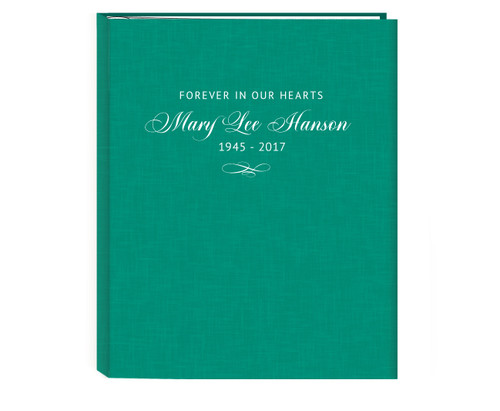 Charleston Linen Cover Guest Book