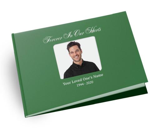 Galant Landscape Linen Funeral Guest Book