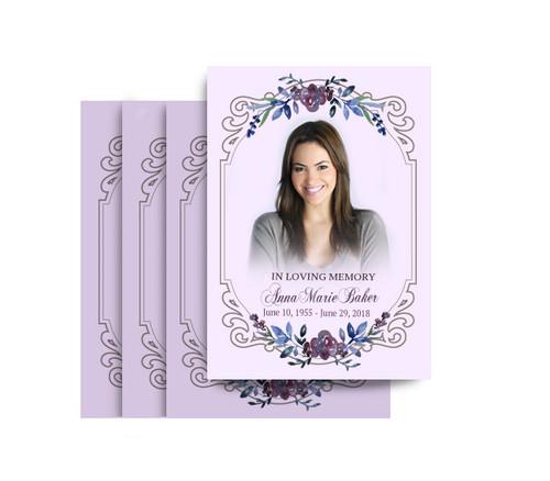 Framed Memory No Fold Funeral Postcard Design & Print (Pack of 25)