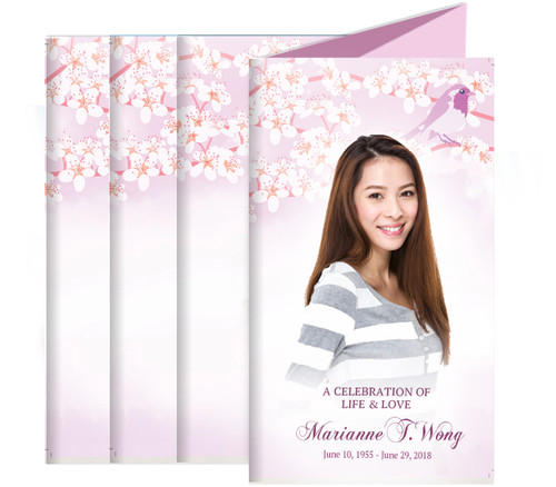 Sweet Bird Funeral Trifold Brochure Design & Print (Pack of 25)