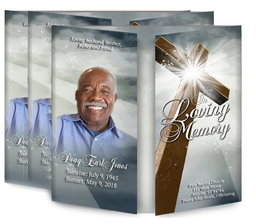 Eternal Gatefold Funeral Program Design & Print (Pack of 25)