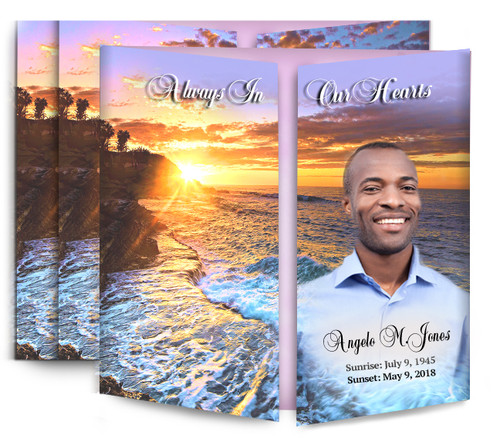 Sunrise Sunset Gatefold Funeral Program Design & Print (Pack of 25)