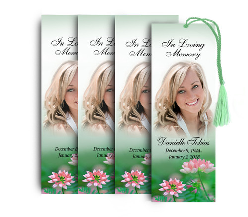 Ambrosia Memorial Funeral Bookmark Design & Print (Pack of 25)