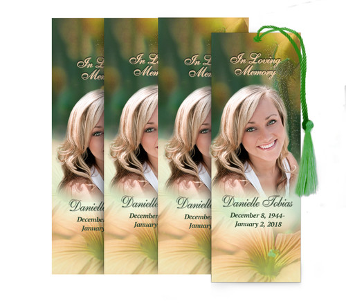Floral Memorial Bookmark Design & Print (Pack of 25)