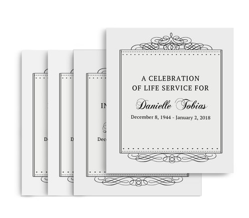 Accent No Fold Memorial Card Design & Print (Pack of 25)