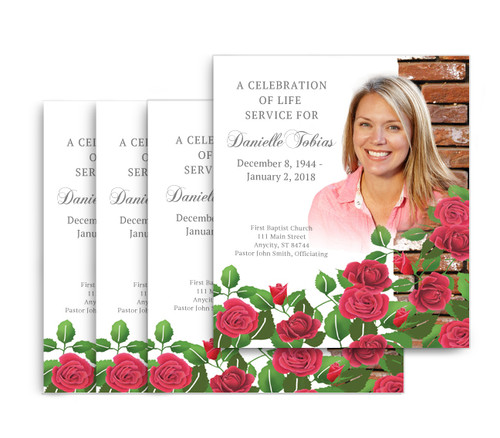 Austere No Fold Memorial Card Design & Print (Pack of 25)