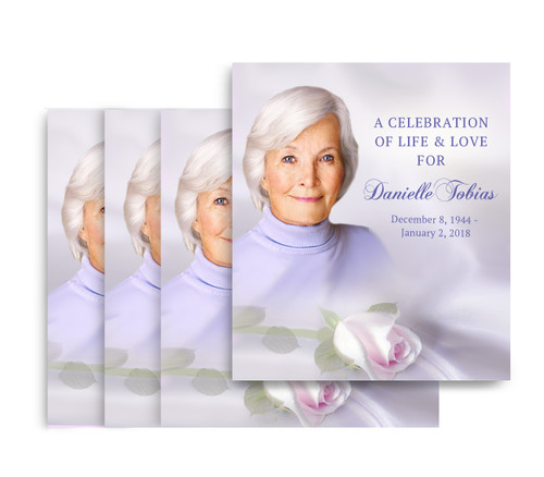 Beloved No Fold Memorial Card Design & Print (Pack of 25)