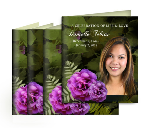 Essence Small Folded Memorial Card Design & Print (Pack of 25)