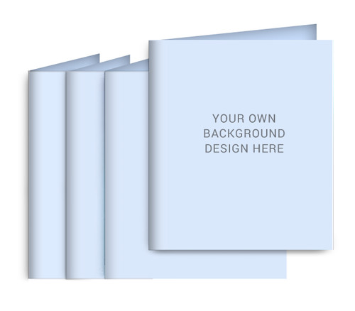 Your Background Small Folded Memorial Card Design & Print (Pack of 25)
