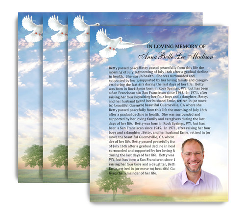 Gardener No Fold Funeral Flyer Design & Print (Pack of 25)