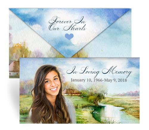 Country Envelope Fold Funeral Program Design & Print (Pack of 25)