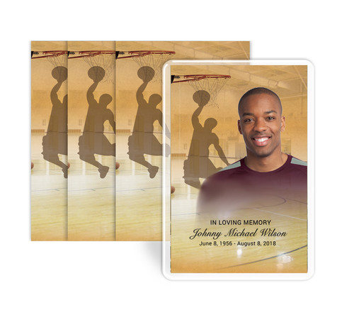 Basketball Funeral Prayer Card Design & Print (Pack of 25)