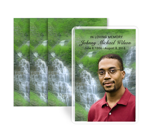 Majestic Funeral Prayer Card Design & Print (Pack of 25)