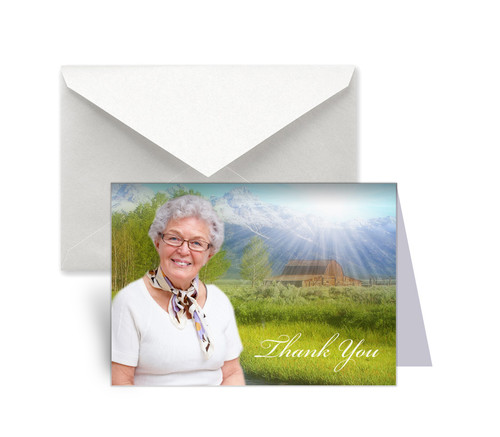 Tranquil Funeral Thank You Card Design & Print (Pack of 25)