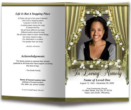 Drape Funeral Program Template