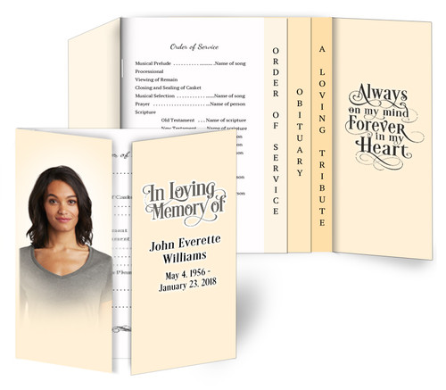 Solid Gatefold/Graduated Combo Funeral Design & Print (Pack of 25)