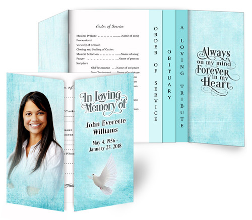 Canvas Gatefold/Graduated Combo Funeral Program Design & Print (Pack of 25)