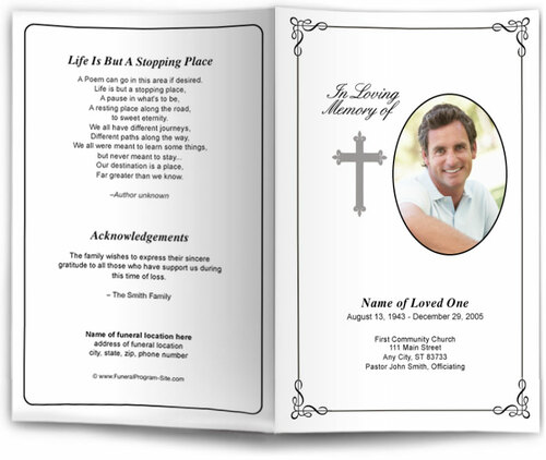 Grace Funeral Program Template