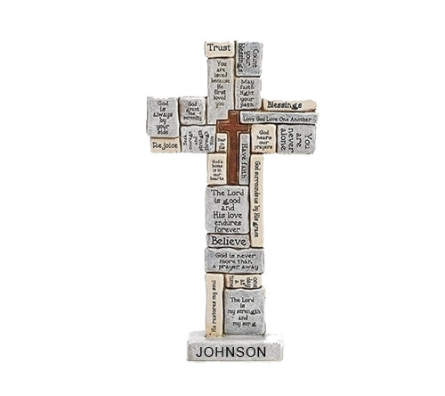 Personalized Words and Sayings Comfort Desk Cross