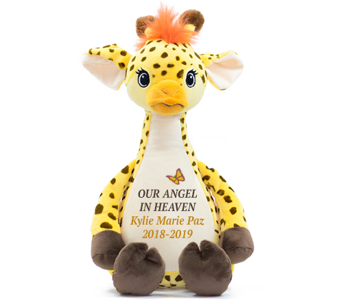 Sunny Giraffe Memorial Stuffed Animal/Urn
