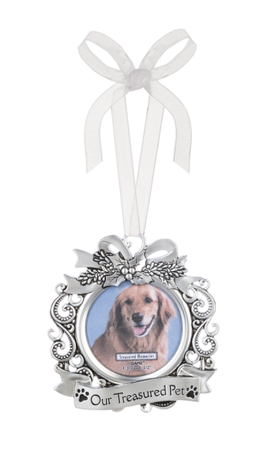 Our Treasured Pet Memorial Christmas Ornament