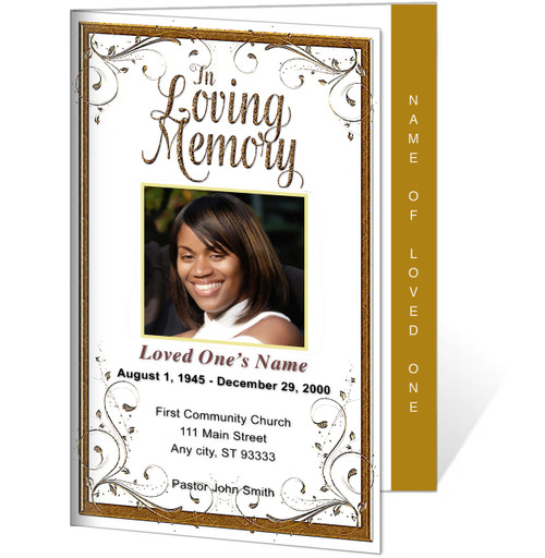 Affinity 4-Sided Graduated Funeral Program Template