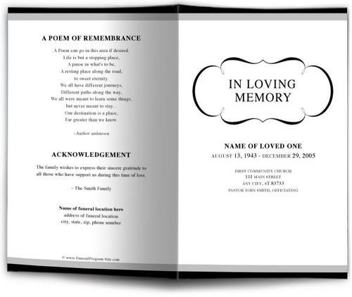 Austin Funeral Program Template