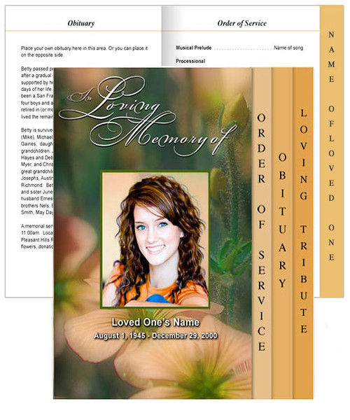 Floral Tabloid 8-Sided Graduated Program Template front