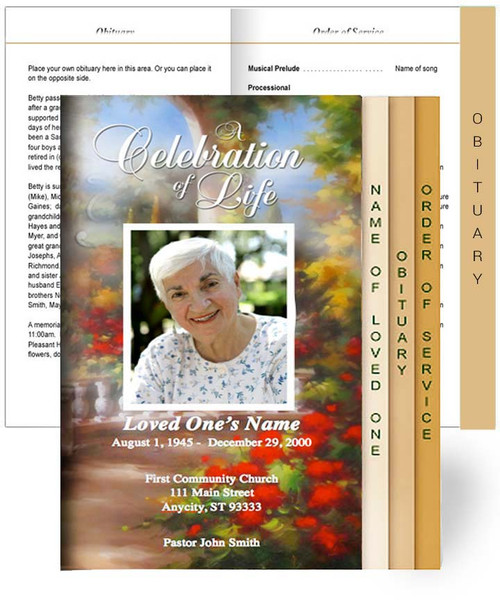 Tuscany Tabloid 8-Sided Graduated Program Template
