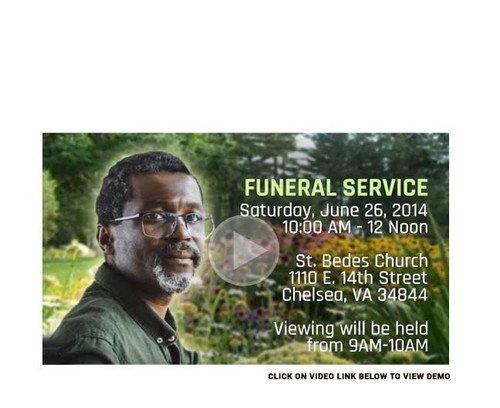 Gardener Social Media Funeral Service Announcement