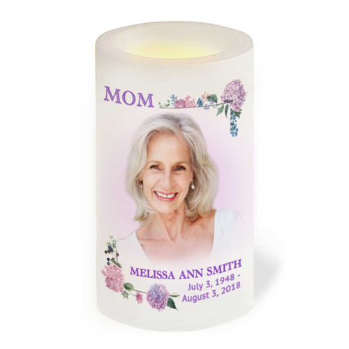 MOM Sister Aunt Grandmother Friend Flameless LED Memorial Candle front view
