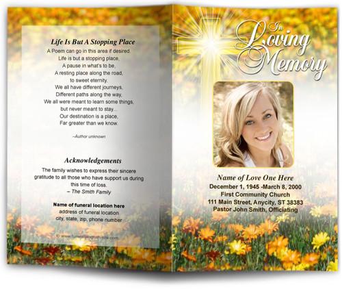 Hope Funeral Program Template