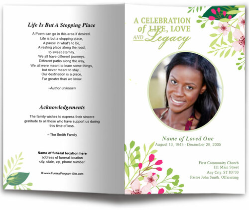 Samantha Funeral Program Template