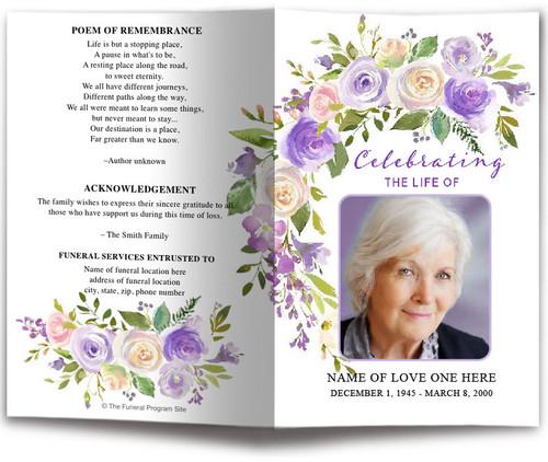 Primrose Funeral Program Template
