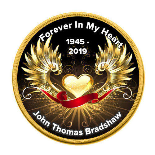 Wings of Gold Round In loving Memory Of Patch