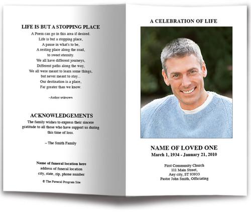 Blank Funeral Program Template