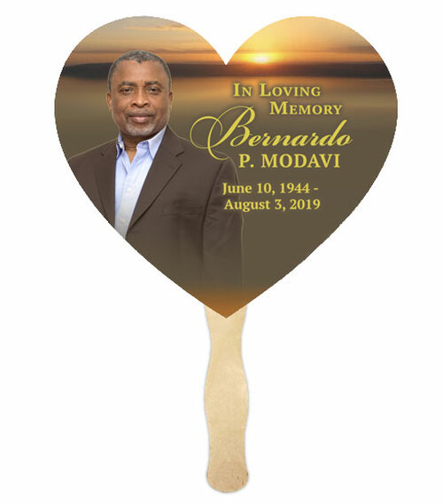 Church Fan Memorial With Wooden Handle Kenya Sunset