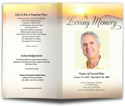 Summit Funeral Program Template