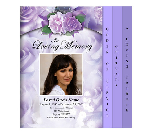 Rapture Legal 8-Sided Graduated Funeral Program Template