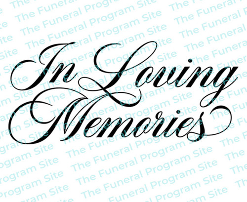 In Loving Memories Funeral Program Title