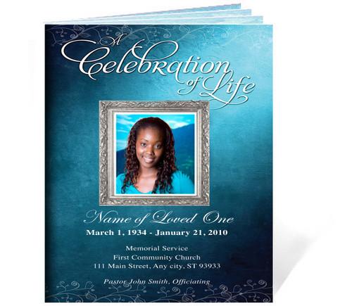 Devotion Funeral Booklet Template (Legal Size) front