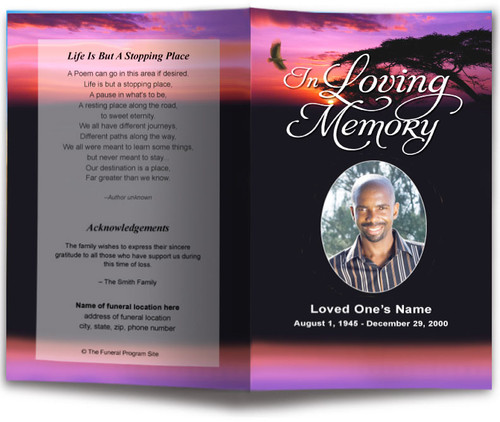 Imagine Funeral Program Template