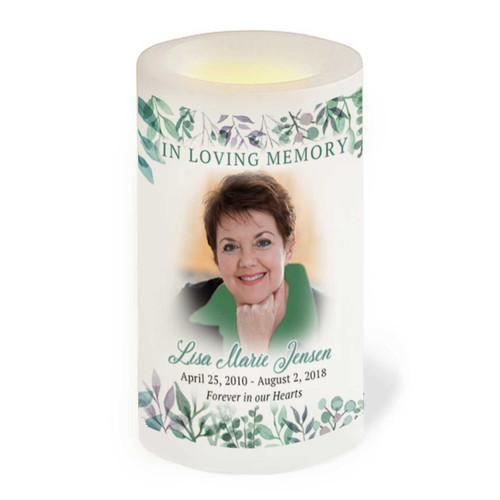 Eucalyptus Flameless LED Memorial Candle