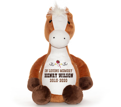 Pony Horse Memorial Stuffed Animal/Urn