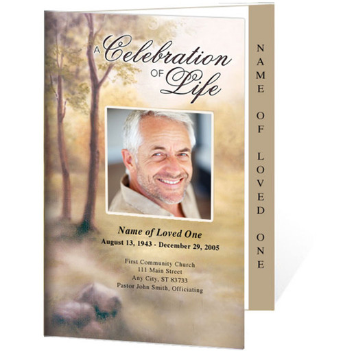 Legacy 4-Sided Graduated Funeral Program Template