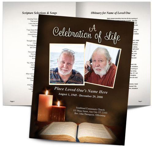 Bible Funeral Booklet Template (Tabloid Size)