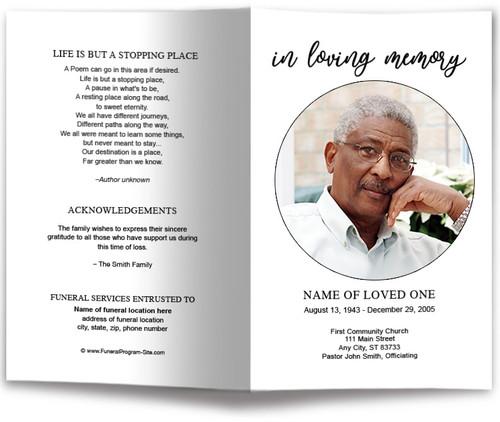 Circle Funeral Program Template