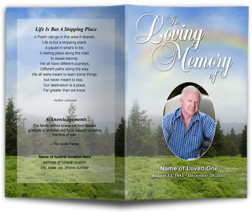 Promise Funeral Program Template