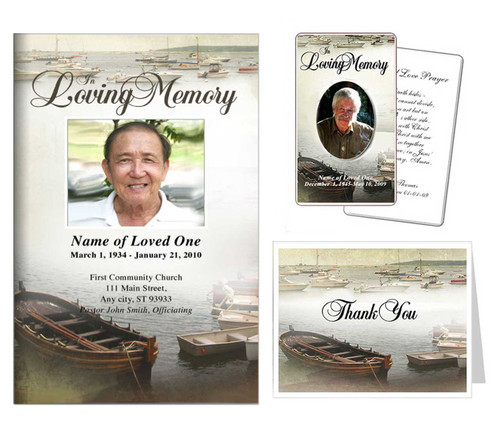 Funeral Templates Set - Fishing