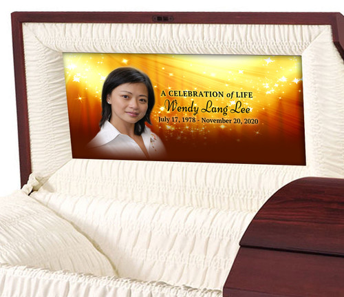 Starburst Personalized Casket Panel Insert